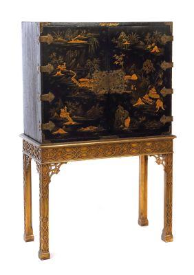 Kabinett Mit Chinoiserie, England, 18. Jahrhundert, Möbel, Einrichtung